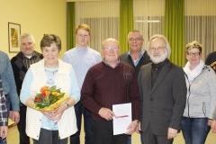 Neuer Vorstand der Sängervereinigung, ausgeschiedene Vorstandsmitglieder sowie geehrte Mitglieder.